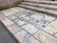 WE HAVE GREAT AMOUNTS IN WAREHOUSE OF THESE FLOORING OF RECOVERY STONE OF BOURGOGNE AGE OF 1500 AT 1800,TO THIKNESS IT ORIGINATES THEM OR IT CUTS TO YOU FROM 3 CM.FOR INNER AND 5 CM. FOR EXTERIORS.(STOCK OF 1000 M2,MATERIAUX ANCIENS.RECLAIMED ANTIQUE LIMESTONE.