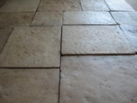 ANTIQUE FLOOR IN CABOCHON, BURGUNDY STONE AND ANTIQUE TERRACOTTA, LARGE STOCK OF VARIOUS SIZE, ALL MADE OF STONE AND TERRACOTTA RECOVERY, 