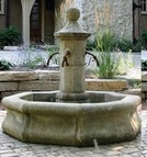 ANTIQUE FOUNTAIN OF PROVENCE STYLE,HANDMADE QUARRY STONE CAVED